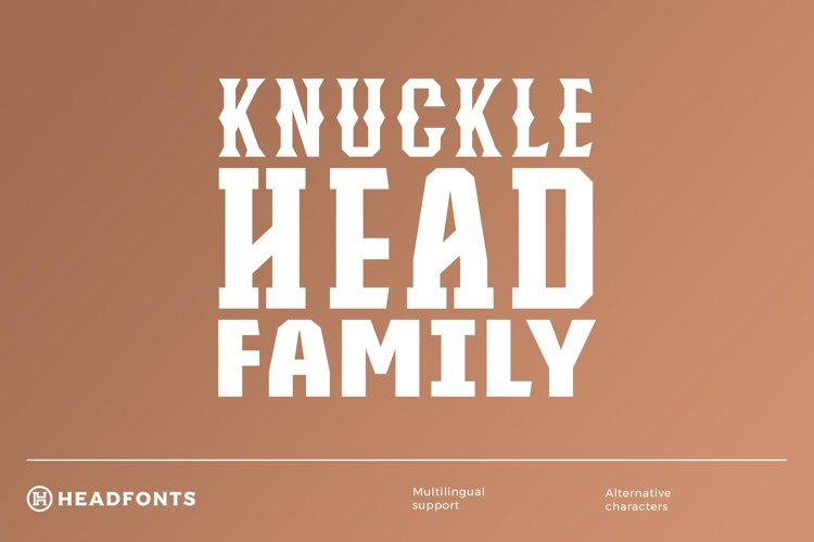 Knucklehead Font Family example image 1
