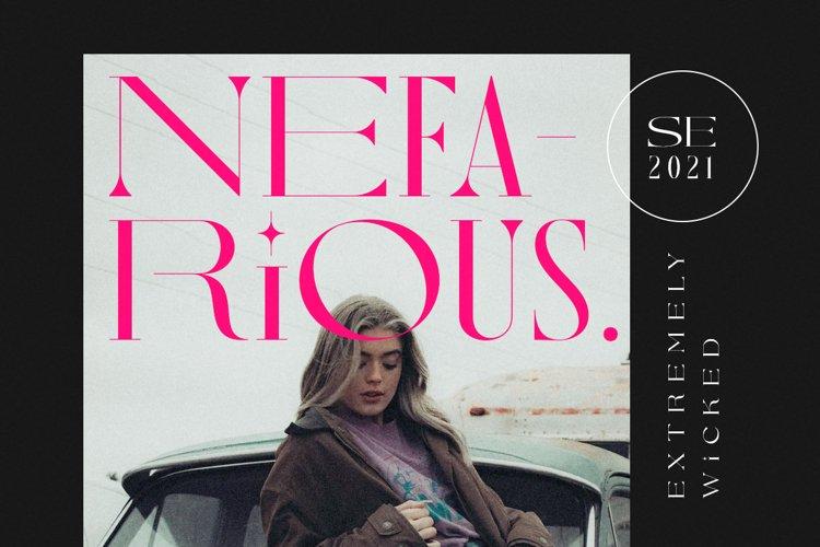 Nefarious - Modern Serif example image 1