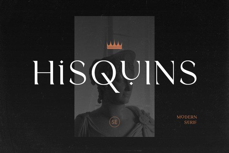 Hisquins - Minimalis & Modern Serif example image 1