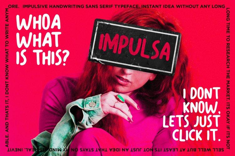 Impulsa - Handwritten Bold Fonts example image 1