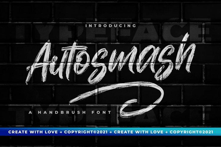 Autosmash - Brush Font example image 1
