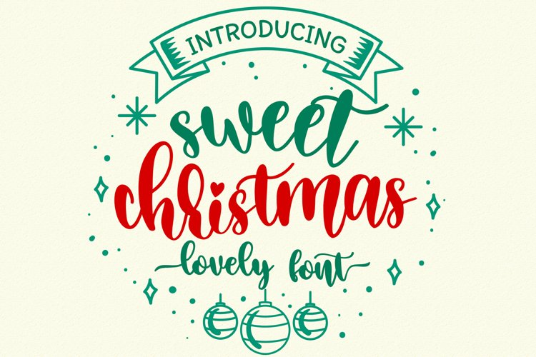 Sweet Christmas - A lovely Script Font with swash example image 1