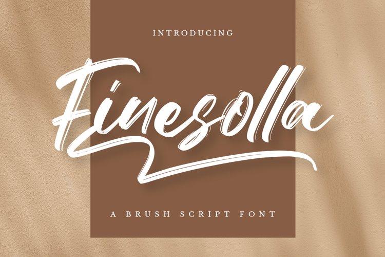 Finesolla - Brush Font example image 1