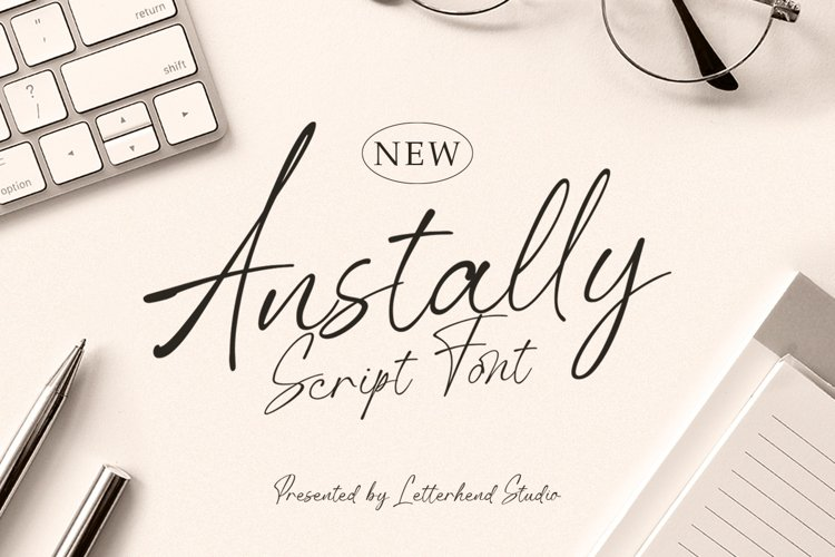 Anstally Script Font example image 1