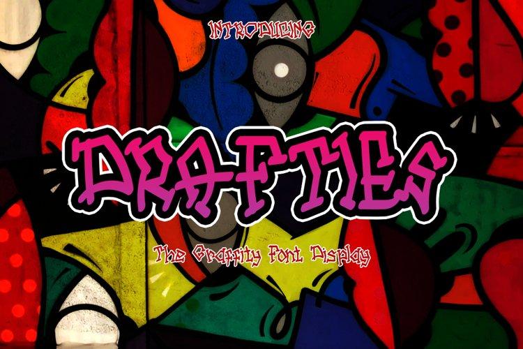 DRAFTIES - Graffiti Display Font