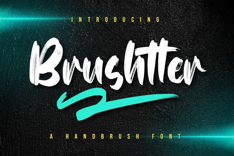 Brushtter - Brush Font example image 1