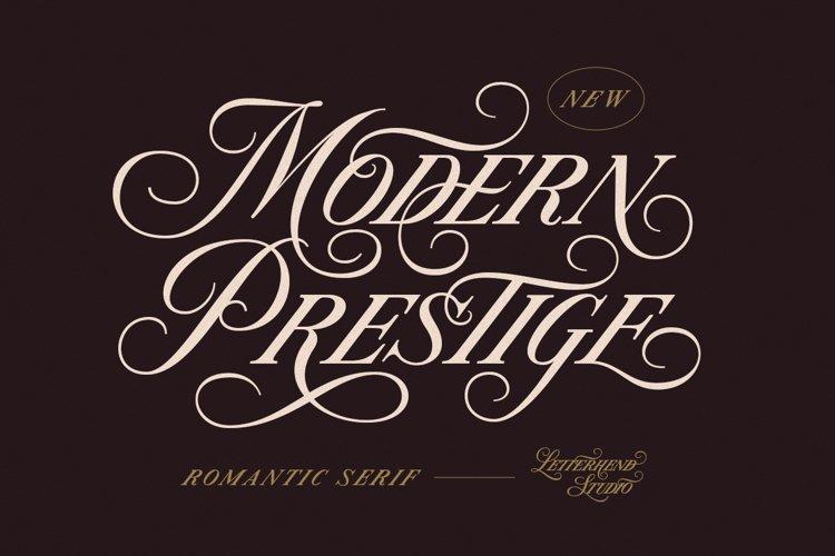 Modern Prestige - Romantic Serif example image 1