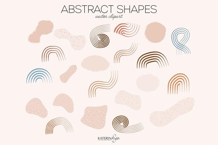 Abstract shapes vector clipart