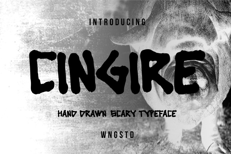 Cingire - bold and scary font example image 1