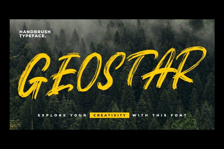 Geostar - Brush Font example image 1