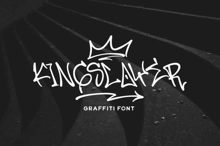 Kingslayer - Graffiti Font example image 1