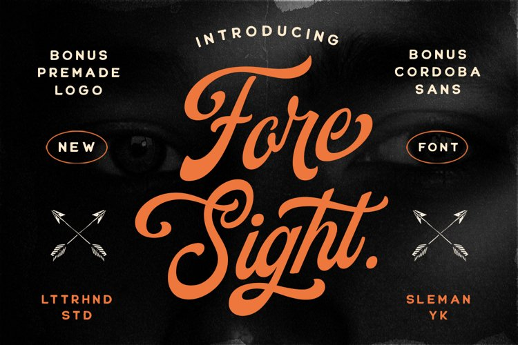 Foresight Font Logo Template example image 1