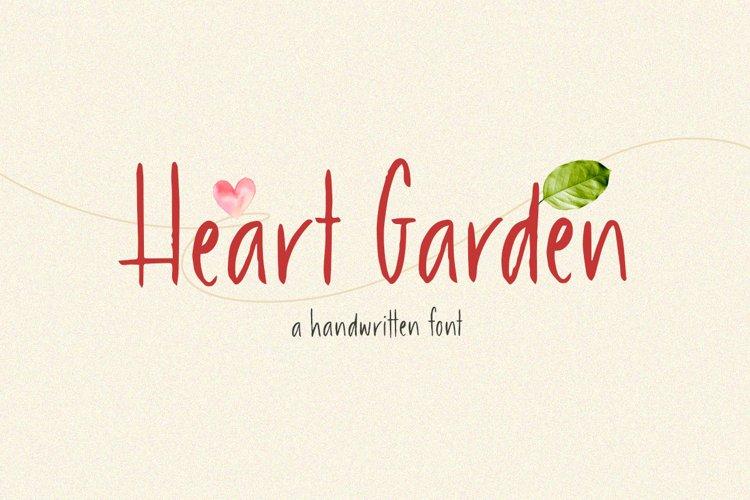 Heart Garden - A Handwritten Font example image 1
