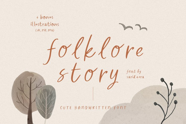 Folklore Story - Cute Font example image 1