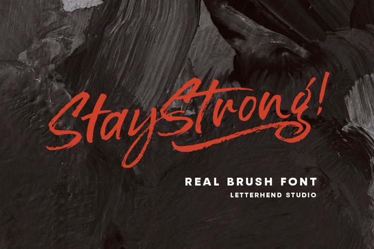 Stay Strong - Dry Brush Font example image 1