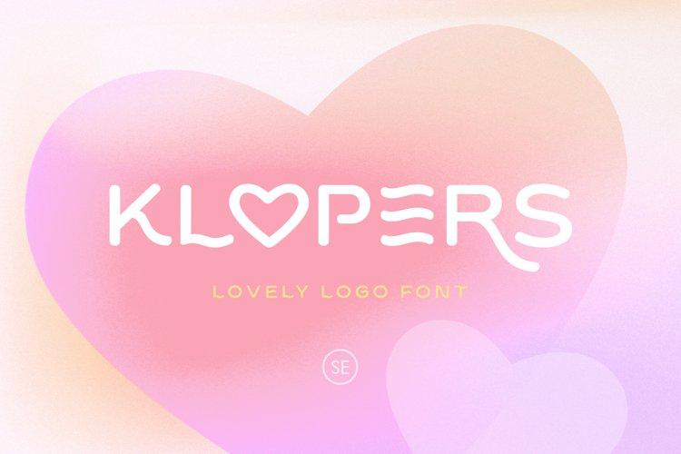 Klopers - Lovely Logo Font example image 1