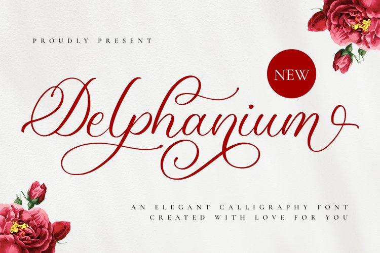 Delphanium - Romantic Calligraphy Font example image 1