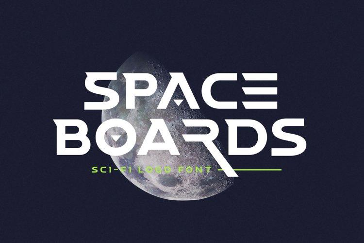 Space Boards - Sci-Fi Logo Font
