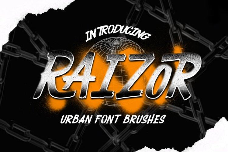RAIZOR brush font example image 1