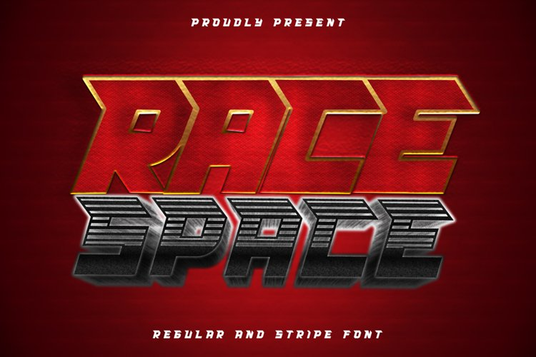 Race Space - a bold and eye catching display font example image 1