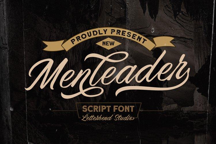 Menleader - Script font example image 1