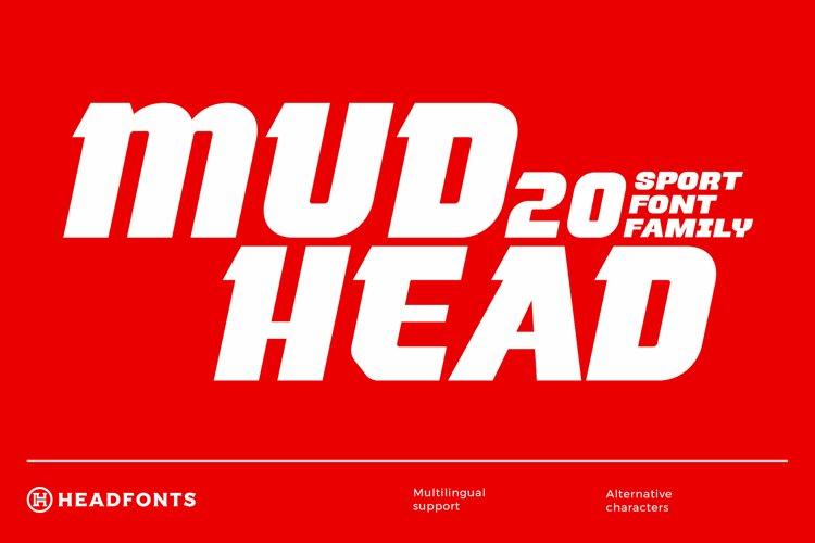 Mudhead Family | Sports Display Font example image 1