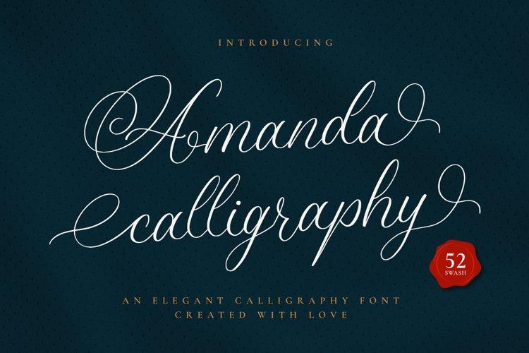 Amanda Calligraphy example image 1