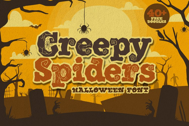 Creepy Spiders Free Doodles example image 1