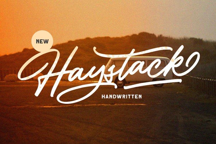 Haystack - Handwritten Script example image 1