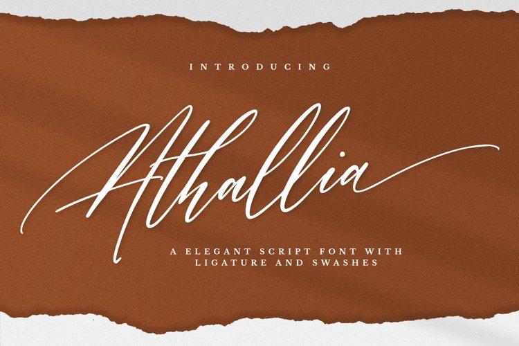Athallia - Luxury Font example image 1