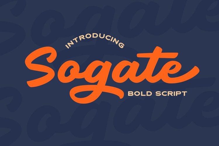 Sogate - Bold Script example image 1