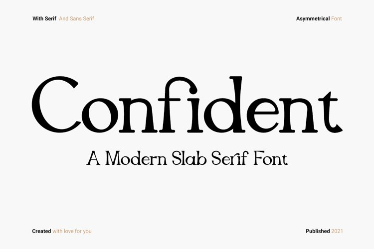 Confident - Slab Serif example image 1