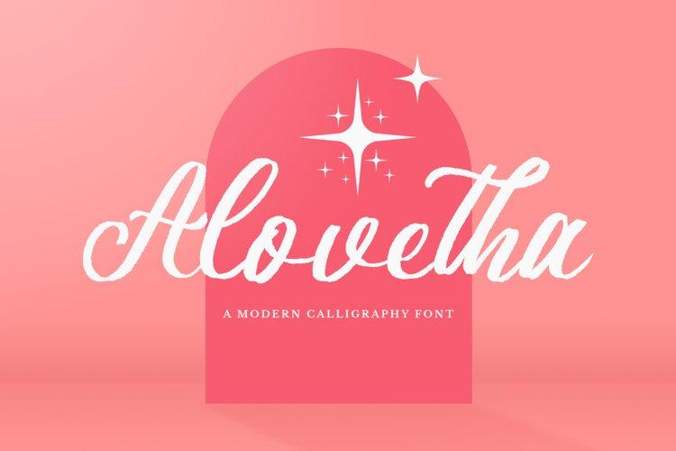 Alovetha - Brush Script Font example image 1