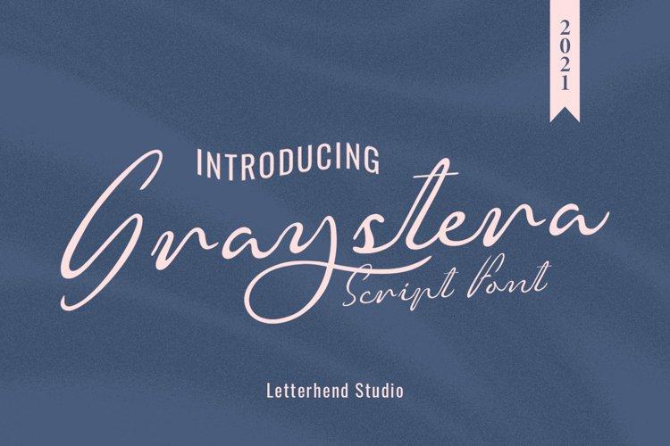 Graystera - Script Font example image 1