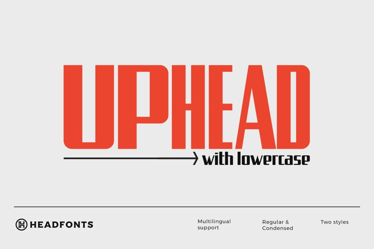 Uphead | Industrial Font example image 1
