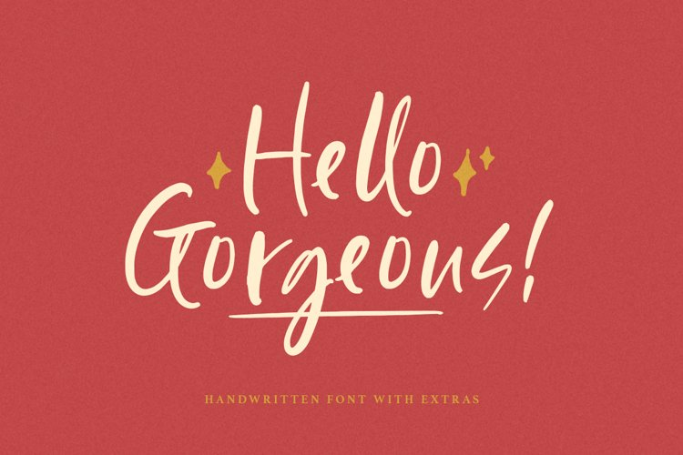 Hello Gorgeous - Handwritten Font example image 1