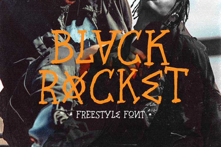 Black rocket - Freestyle Font example image 1