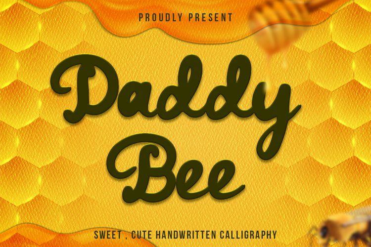 Daddy Bee is a bold and cute handwritten font. example image 1