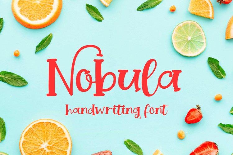 Nobula || handwriting font example image 1