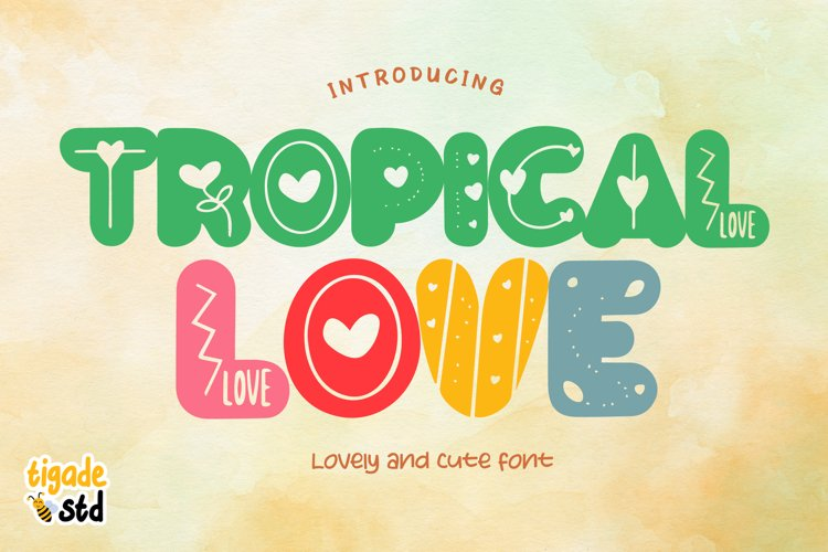 Tropical Love - Lovely Decorative Font for Crafting example image 1