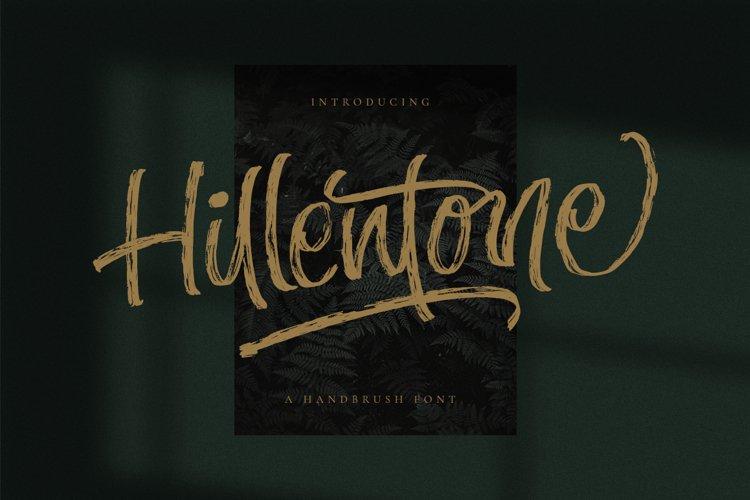 Hillentone - Brush Font example image 1