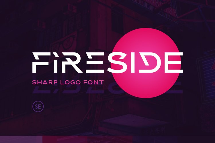 Fireside - Sharp Logo Font example image 1