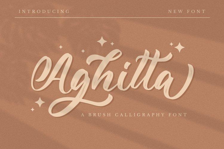 Aghitta - Brush Script Font example image 1
