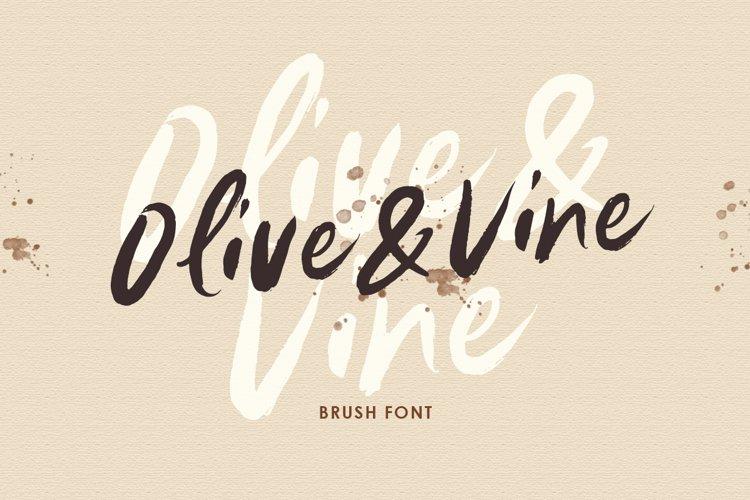 Olive & Vine - Brush Font example image 1
