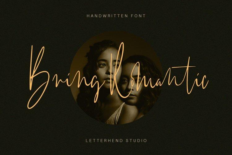 Bring Romantic - Handwritten Font