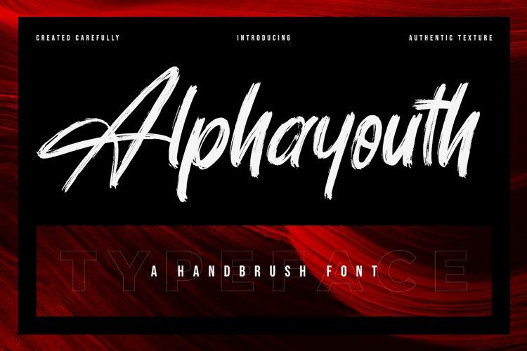 Alphayouth - Brush Font example image 1