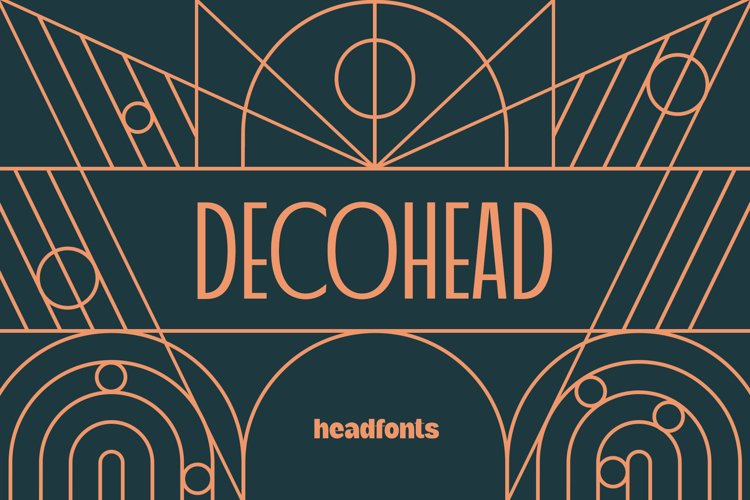 Decohead Art Deco Font example image 1