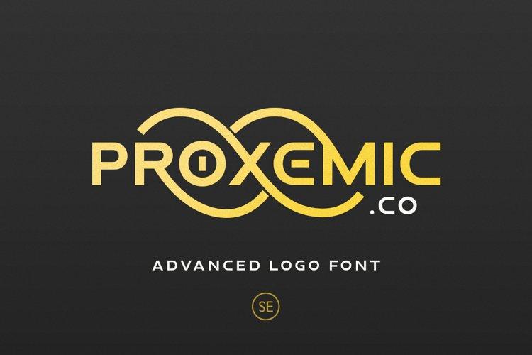 Proxemic - Advanced Logo Font example image 1