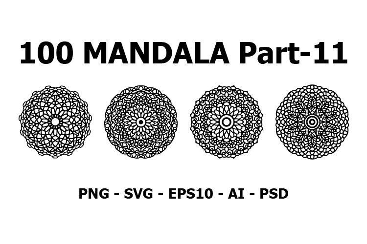 Bundles Vector Mandala Ornaments and Pattern - 100 set