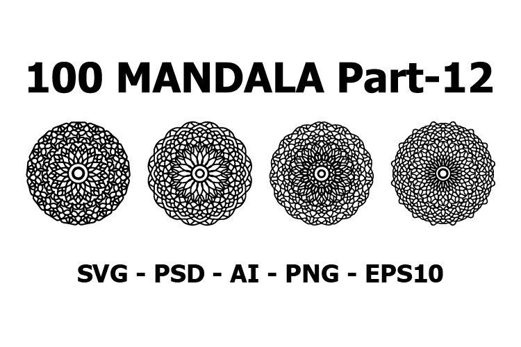 Various Pattern collections - 100. Mandala pattern set.
